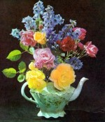 Flower Arranging With Delphiniums