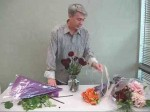 Flower Arranging with Chrysanthemums and Dahlias